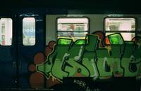 train grafitti