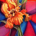 """""""Stained Glass Iris"""" by AlmaLee"""