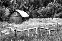 Colorado Barn in BW