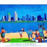 """San Diego Art California Poster by Riccoboni"" by BeaconArtWorksCorporation"
