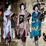 """threegeishas"" by des"