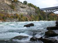 Niagara Whirlpool rapids with Whirlpool Bridge 1