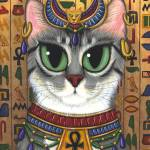 """Bast Goddess ; Egyptian Cat God"" by tigerpixie"