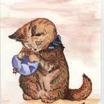 """Cat Napkin"" by RubyArts"