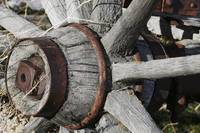 Old Wooden Wagon Wheel Hub - 7887