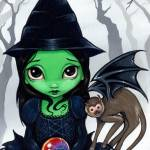 """Wicked Witch and her Flying Monkey :  Wizard of Oz"" by strangeling"