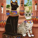 """Temple of Bastet ; Egyptian Bast Goddess"" by tigerpixie"