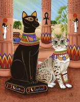 Temple of Bastet ; Egyptian Bast Goddess