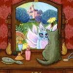 """The Chimera Vanity ; Fairy Cat Castle"" by tigerpixie"