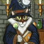 """Merlin The Magician ; Wizard Cat Magic"" by tigerpixie"
