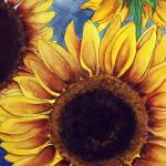 """""Sunny Sunflowers"" watercolor"" by marygaines"