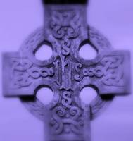 purple celtic cross