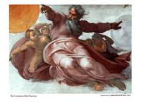 The creation of the heavens_Michaelangelo