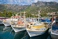 Fishing boats in Kas Harbor, Turkey