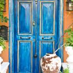 """Painted door at Kas, Turkey"" by canbalci"