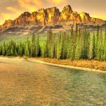 """""""Castle Mountain Sunset"""" by ChristopherBSmyth"""