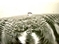 Ripples from a drop