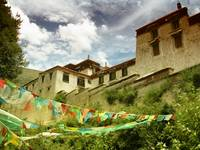 Prayer Flags at Drepung Monastery, Tibet