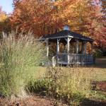 """Gazebo surrounded by autumn colors"" by ScenicNH"