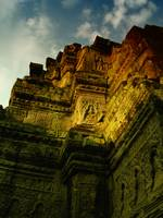 Sunlit Temple, Angkor Wat Temple Complex, Cambodia