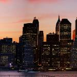 """Manhattan Skyline at Sunset"" by CarlosAlkmin"