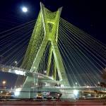 """Sao Paulo famous bridge by night (Estaiada)"" by CarlosAlkmin"