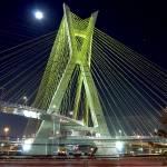 """Sao Paulo famous bridge by night (Estaiada)"" by CarlosAlkmin"