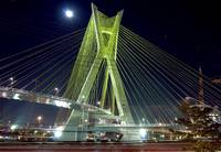 Sao Paulo famous bridge by night (Estaiada)