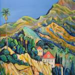 """California Gold - The Verdugo Mountains, Los Angel"" by BeaconArtWorksCorporation"