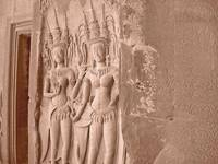 Carvings of Apsara Dancers, Angkor Wat, Cambodia