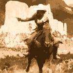 """CowboyUpUnderPainting48x36"" by Columellaarts"