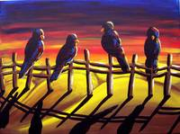 Sunset Crows
