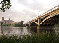 Salamanca River, Bridge and Cathedral