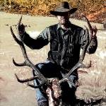 """self portrait with 2008 6x6 Bull Elk"" by melroseelkcamp"