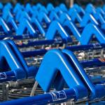 """Supermarket Trollies, in Colour Color"" by lenarcher"