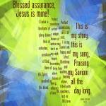 """Blessed Assurance"" by hymnscript"