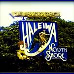 """Haleiwa Beach sign"" by Hawaiian-Prints"