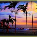 """Hawaiian sunset scenes"" by Hawaiian-Prints"