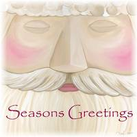 Folk Santa Face - Seasons Greetings
