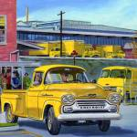 """Chevrolet Truck Ad (Circa 1960)"" by mustang105"