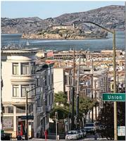Alcatraz From Mason and Green Streets