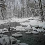 """Snowy Creek in winter"" by Nanwright"