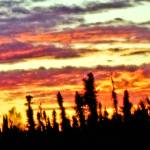 """""""The Sky Ablaze at Sunset."""" by PerryPullen"""