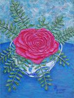 Rose in a Bowl Painting