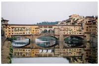 Ponte Vecchio and its Reflection, Florence