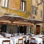 """Italian Cafe with Rustic Building"" by Groecar"