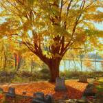 """A Cemetery In Fall"" by bavosiphotoart"