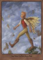 Leaf Walker Autumn Faery Oil Painting