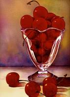 Glass Full of Cherries