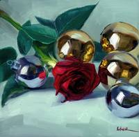 Christmas Rose, Silver, and Gold